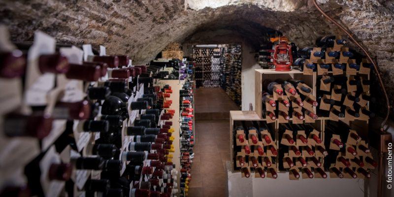 La cantina del Ristorante Coria - Il paradiso dei wine lovers